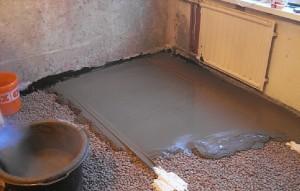 Не армированный слой бетона